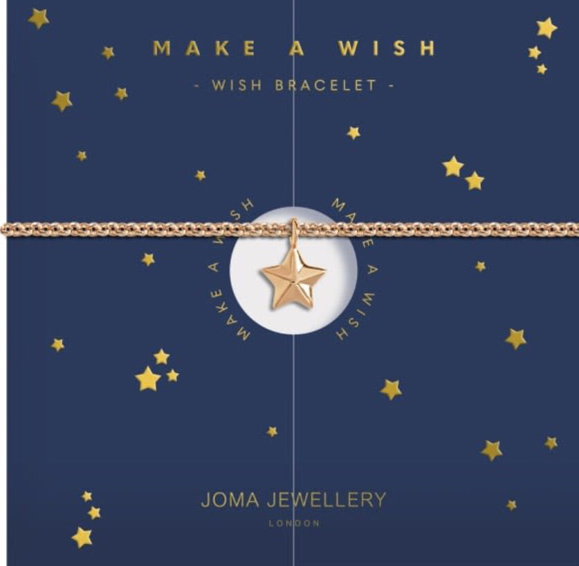 Joma Jewellery Gold Make A Wish Bracelet