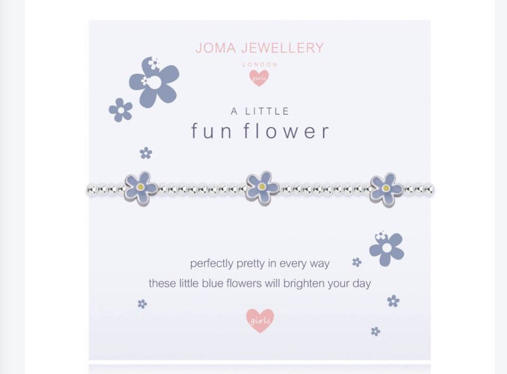 Joma Jewellery Girls A Little Fun Flower Bracelet