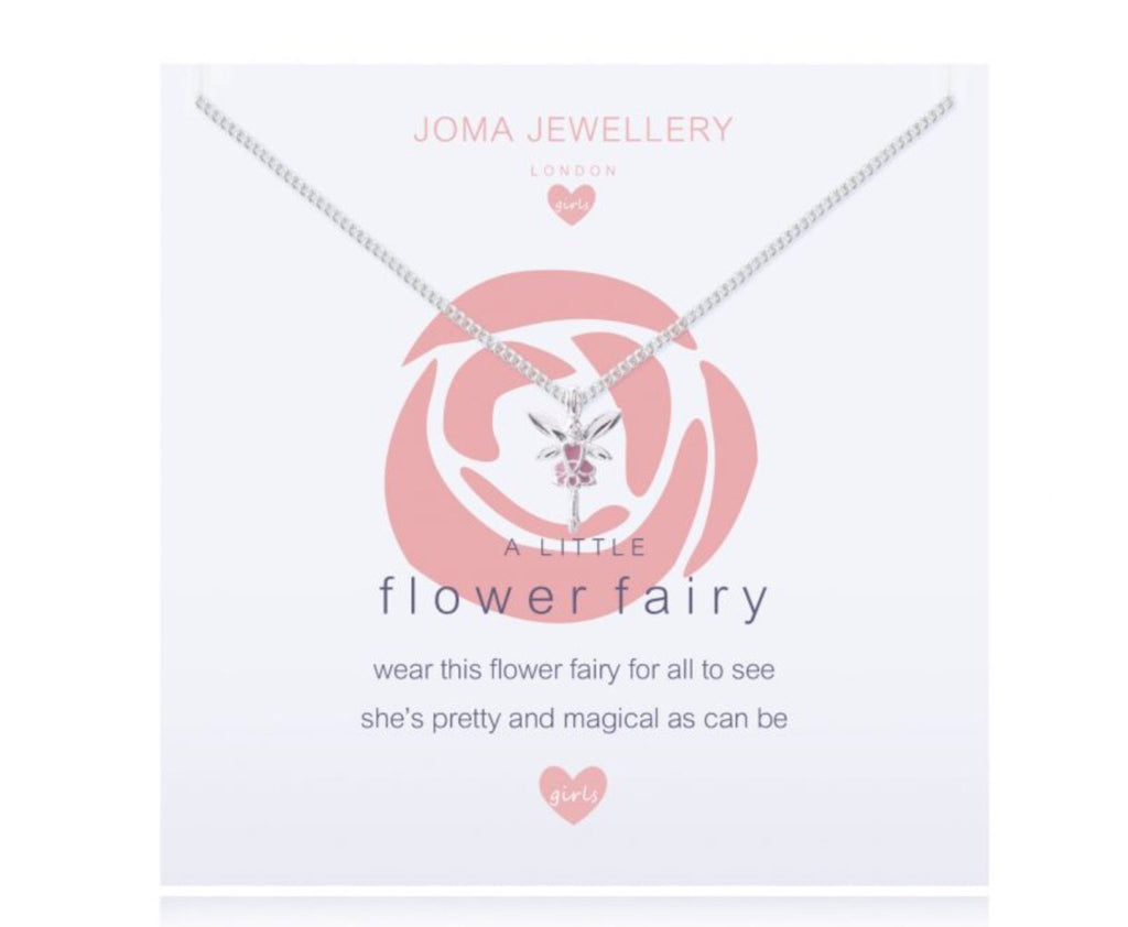 Joma Jewellery Girls A Little Flower Fairy Rose Necklace