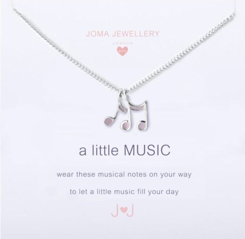 Joma Jewellery Girls A Little Music Necklace