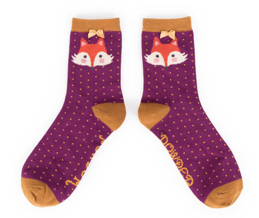 Powder Fox Ankle Socks