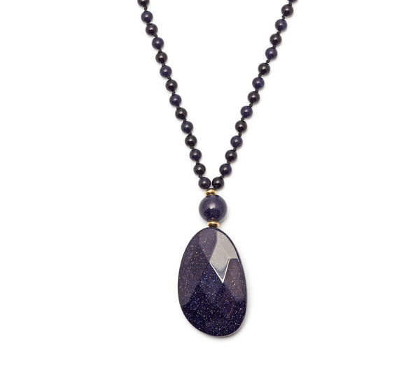 Lola Rose Kobi Necklace - Black Agate / Blue Sandstone