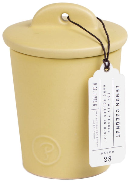 Paddywax Provisions Lemon Coconut Ceramic Candle (8oz.)
