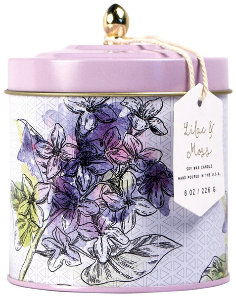 Paddywax Flower Market Lilac & Moss Tin Candle (8oz.)