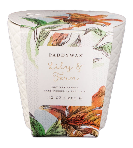 Paddywax Flower Market Lily & Fern Ceramic Candle (10oz.)