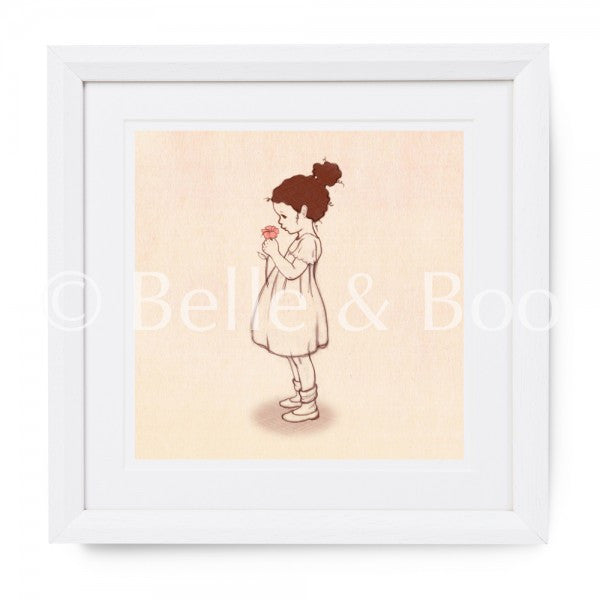 "Belle & Boo Lola's Flowers 10 x 10"" Framed Art Print (Signed)"