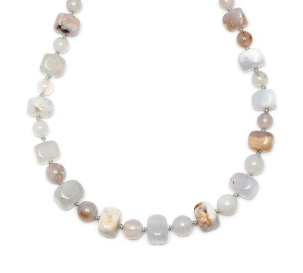 Lola Rose Mobi Necklace - Multi White Agate / Beryl Stone