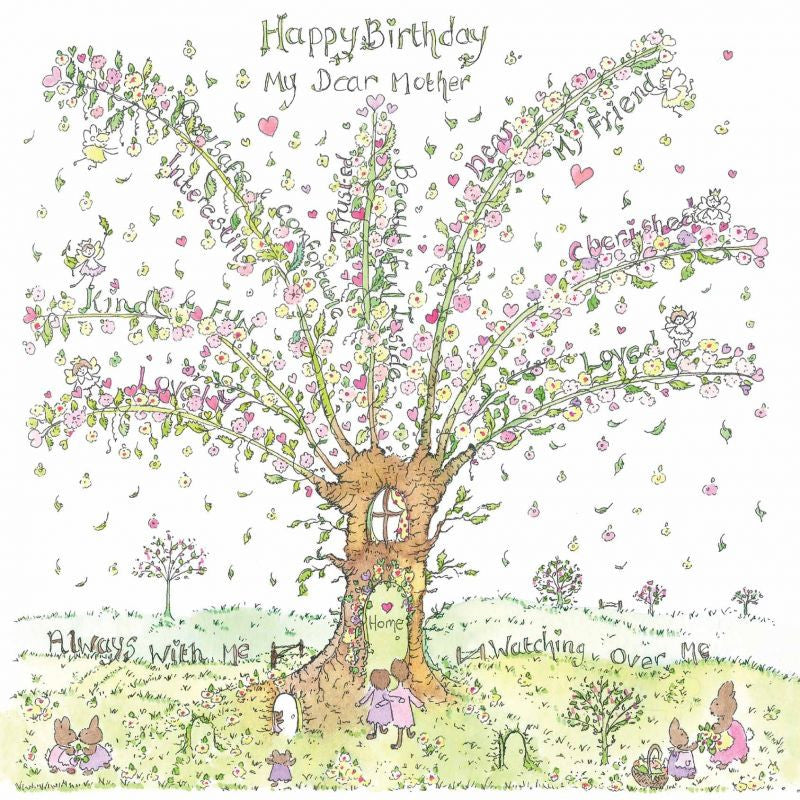 The Porch Fairies Birthday Card - My Dear Mother