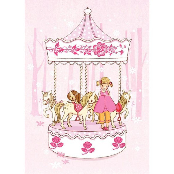 "Belle & Boo Ava & The Carousel 11 x 14"" Framed Art Print (Signed)"
