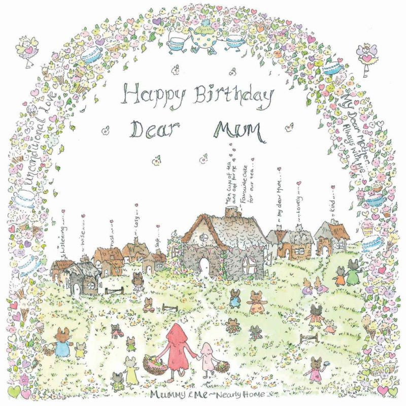 The Porch Fairies Birthday Card - Dear Mum