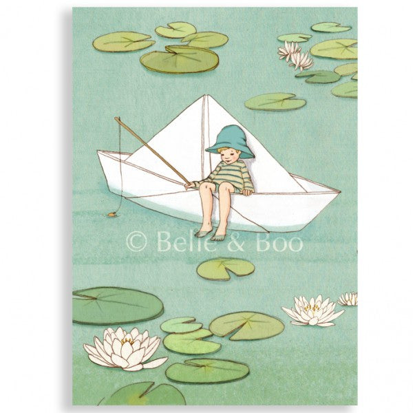 Belle & Boo 'My Paper Boat' Card