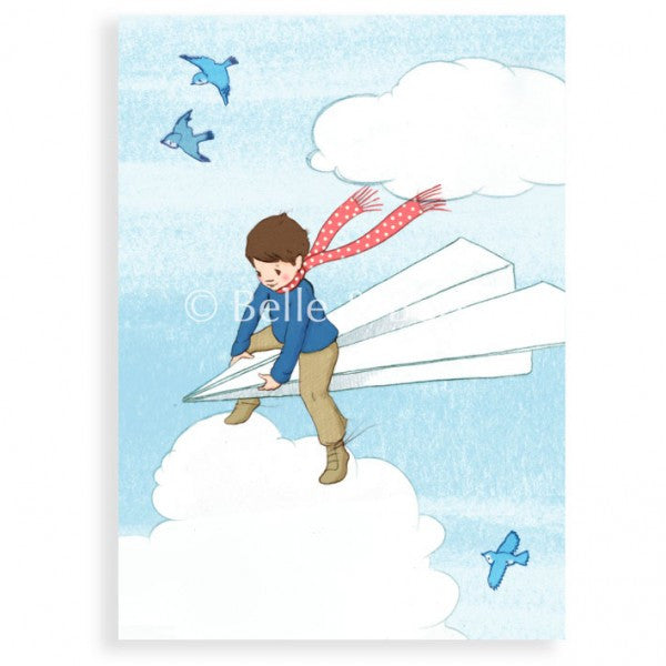 Belle & Boo 'My Paper Plane' Card