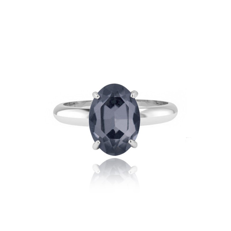 Joma Jewellery Nellie Ring - Navy Crystal