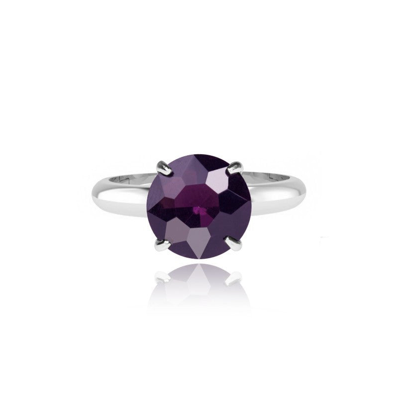 Joma Jewellery Nellie Ring - Purple Crystal