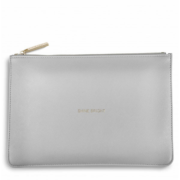 Katie Loxton Perfect Pouch - Shine Bright (Pale Grey)