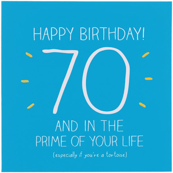 Happy Jackson Age 70 Birthday Card - Prime Of Your Life