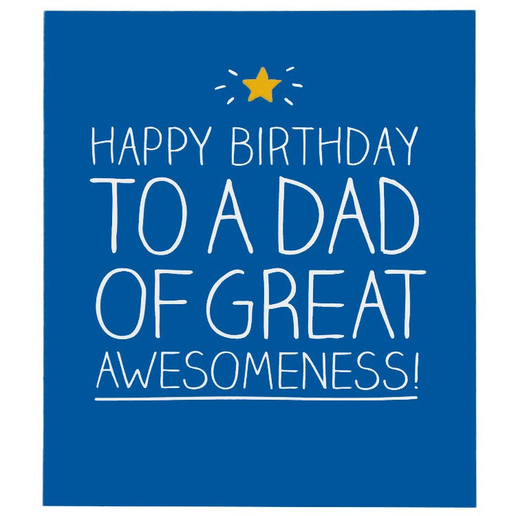Happy Jackson Dad Of Great Awesomeness Birthday Card