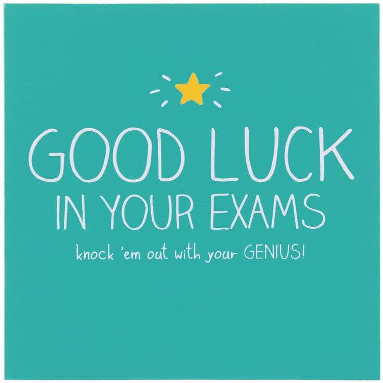 Happy Jackson Good Luck In Your Exams Card