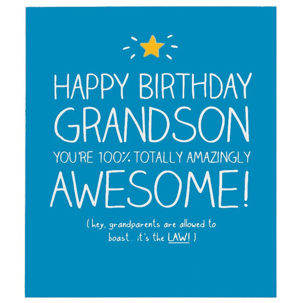 Pigment Happy Jackson Grandson 100 Totally Awesome Greeting Card Gf703b 1 Grande