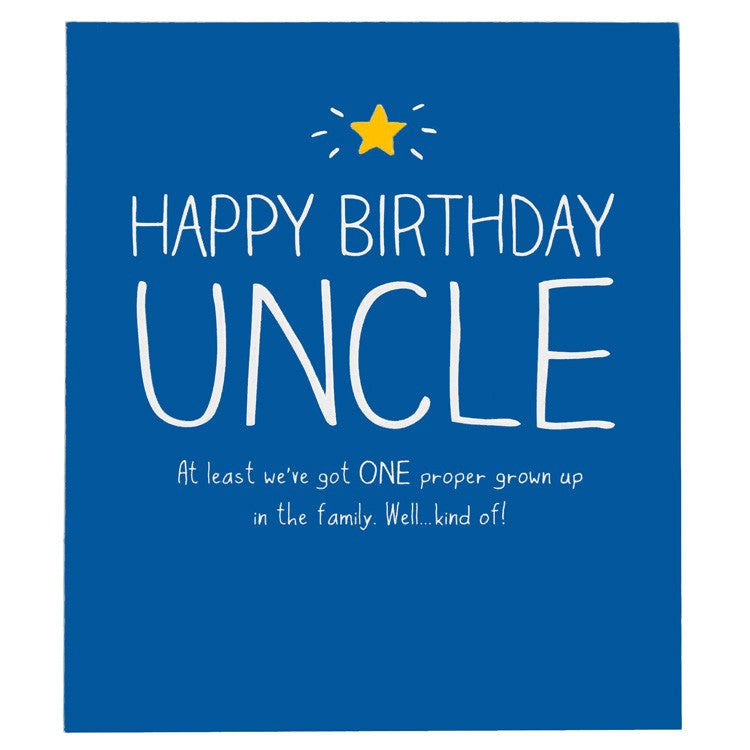 Happy Jackson Uncle One Proper Grown Up Birthday Card