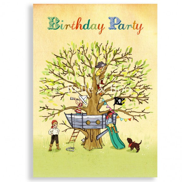 Belle & Boo 'Pirate Party' Birthday Card