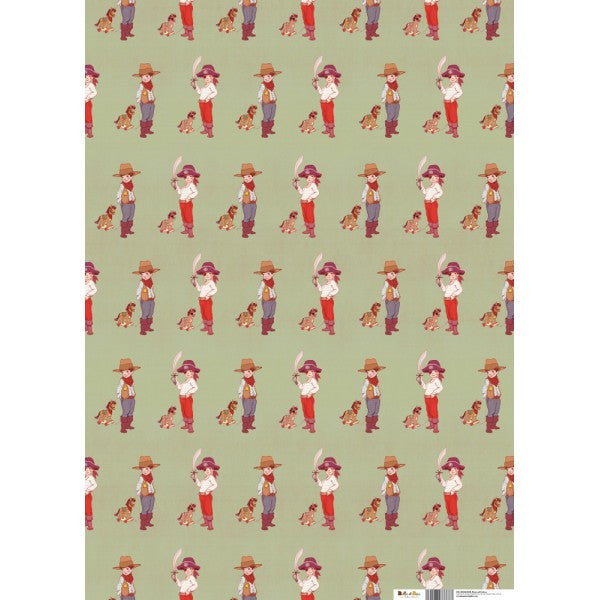 Belle & Boo Pirates & Cowboys Gift Wrap