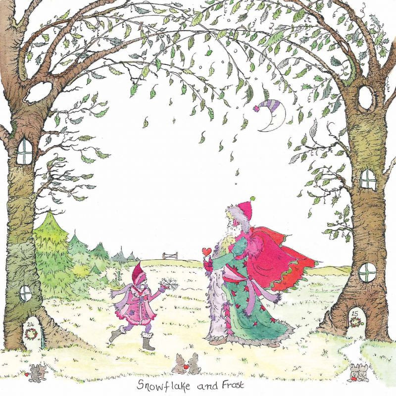 The Porch Fairies Christmas Card - 'Snowflake & Frost'