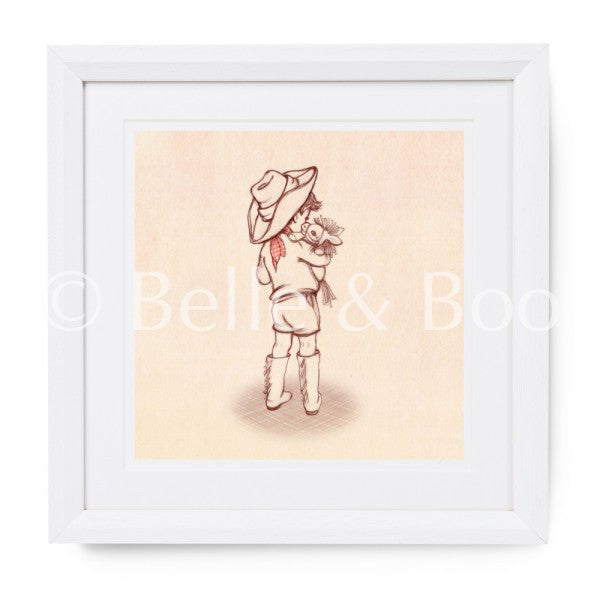 "Belle & Boo Ssshh I Have A Secret 10 x 10"" Framed Art Print (Signed)"