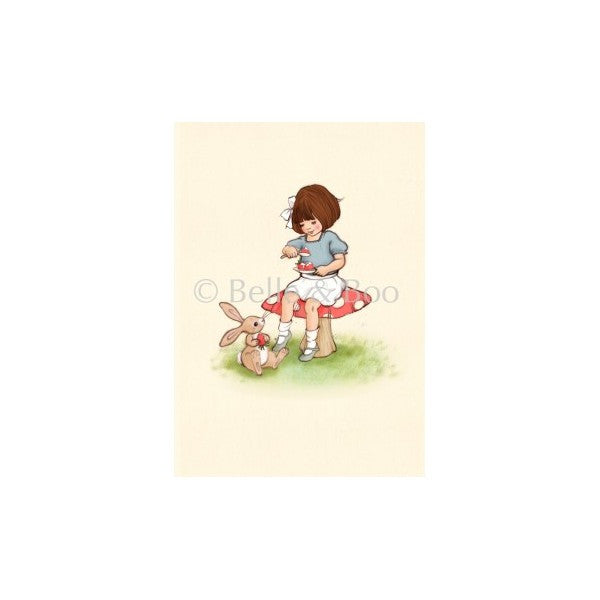 "Belle & Boo Limited Edition Strawberries & Cream 6.5 x 8.5"" Framed Art Print (Signed)"