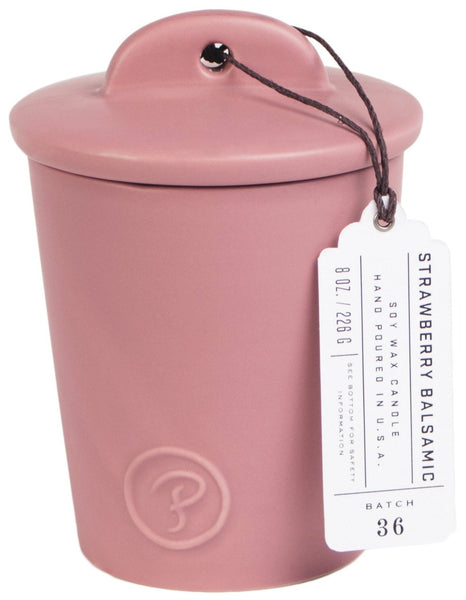 Paddywax Provisions Strawberry Balsamic Ceramic Candle (8oz.)