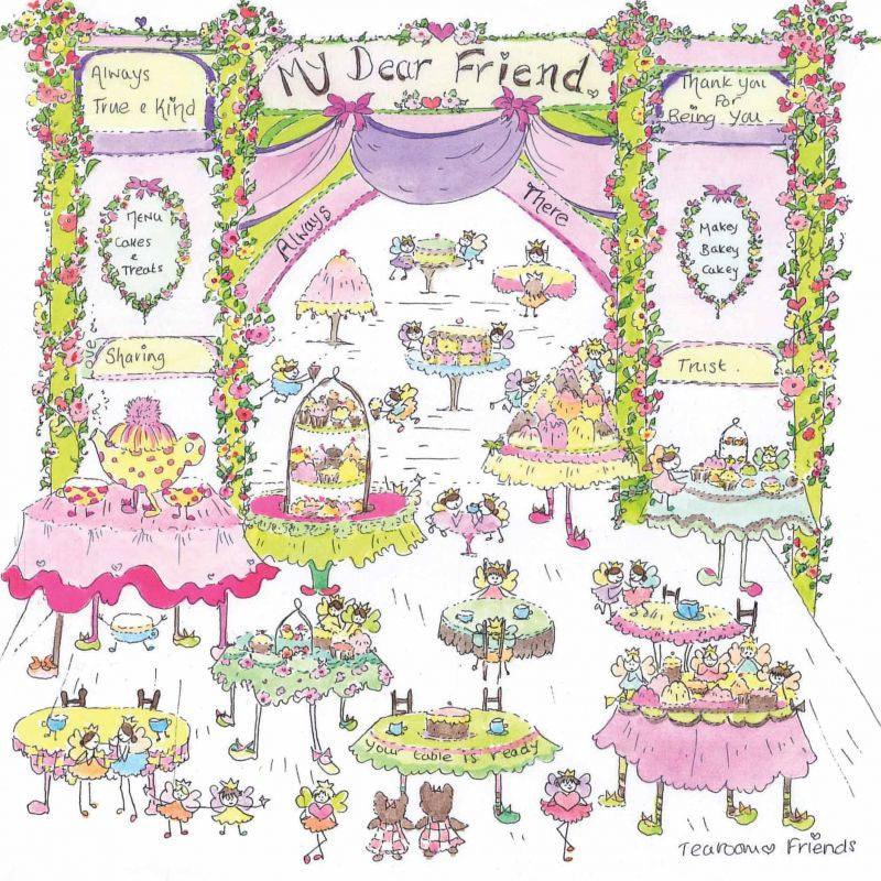 The Porch Fairies Card - 'Tea Room Friends'