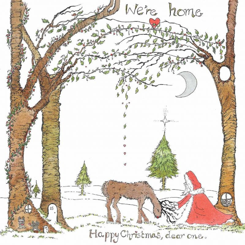 The Porch Fairies Christmas Card - 'We're Home'