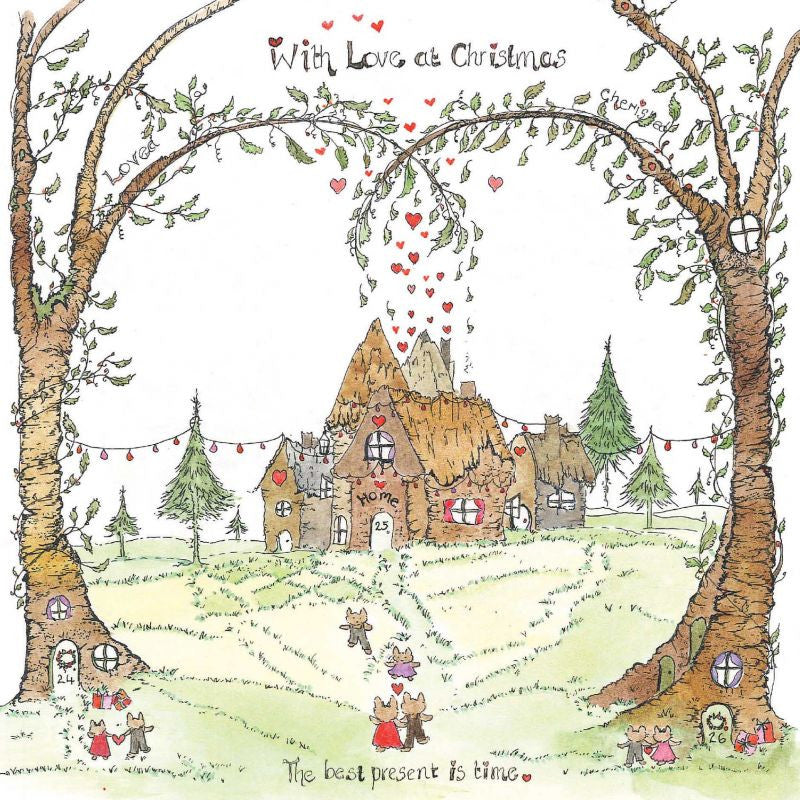 The Porch Fairies Christmas Card - 'With Love At Christmas'