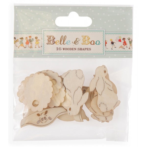 Belle & Boo Wooden Shapes