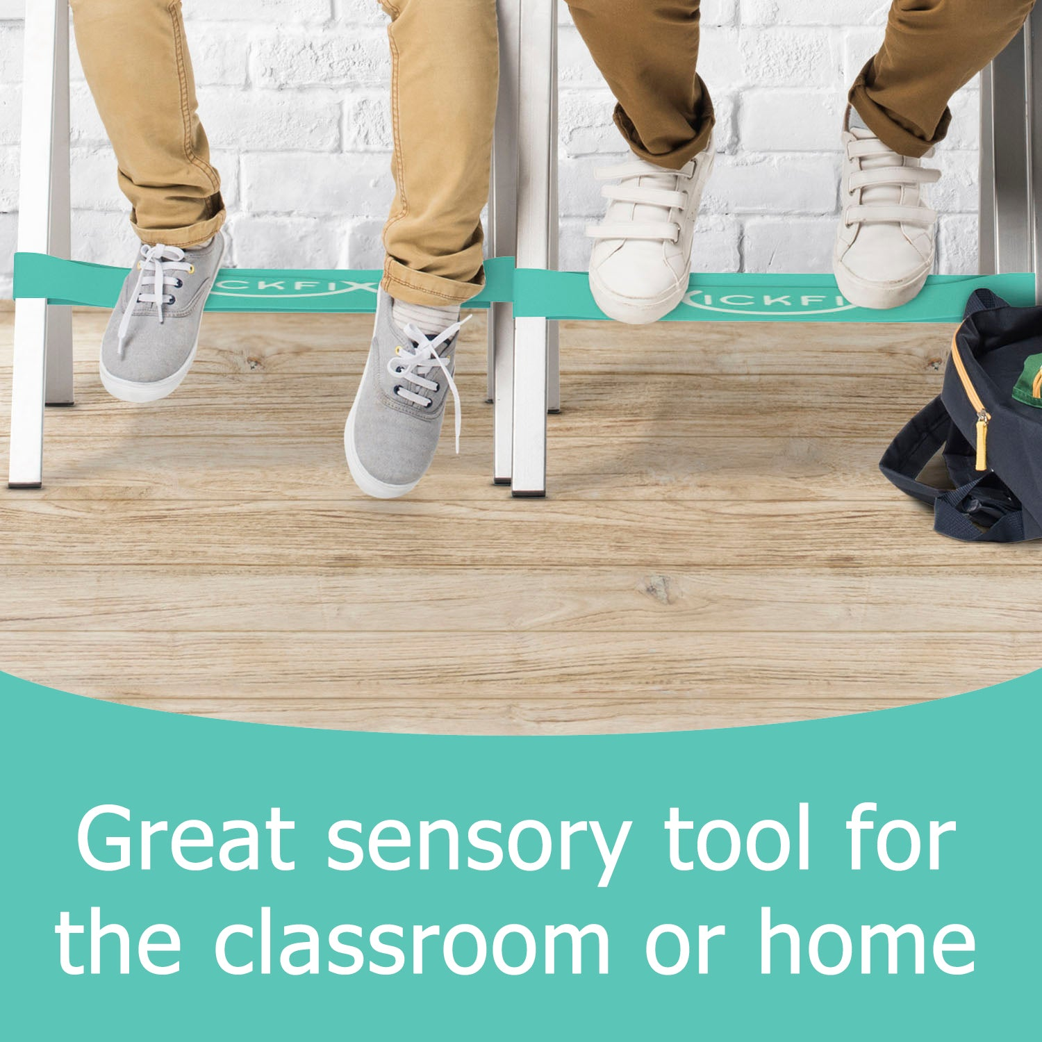 Amazing Kickfixfidget Bands For Classroom Chairs 10 Pack Teal Is Short Links Chair Design For Home Short Linksinfo