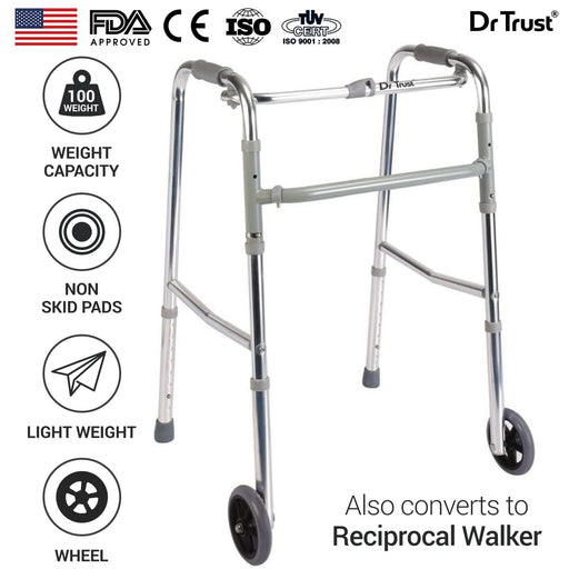 Dr Trust walker Dr Trust USA Premium Folding Walker with 5 Inches Wheels 340