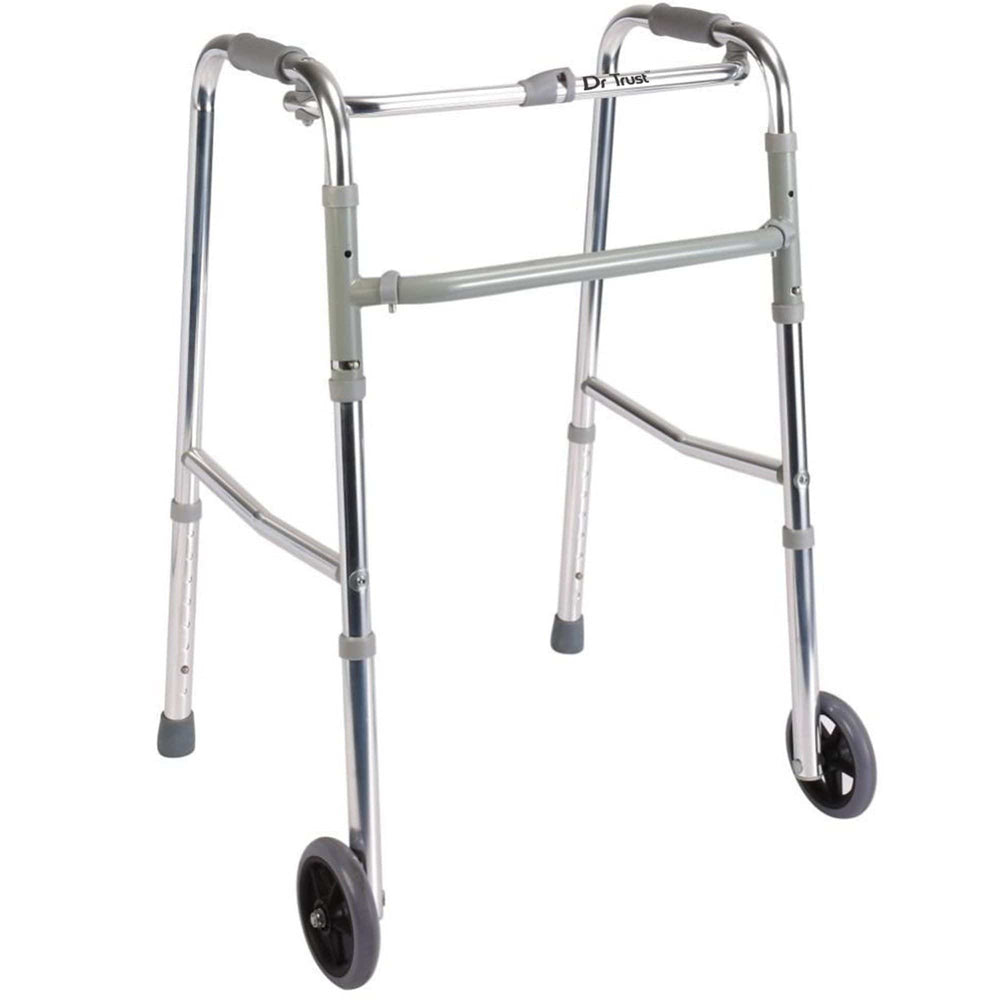Dr Trust USA Premium Folding Walker with 5 Inches Wheels 340.