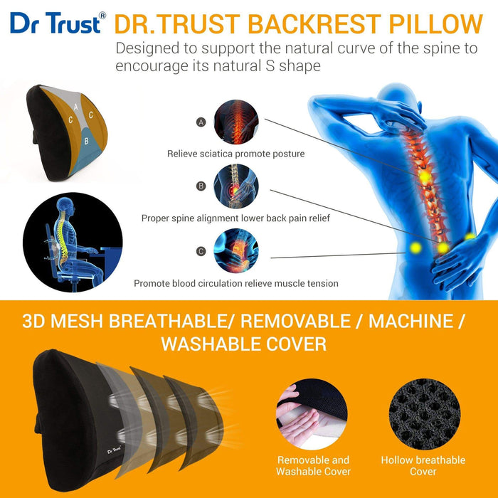 Dr Trust backrest Dr Trust USA Backrest Pillow Back Support for Ortho Patients 305