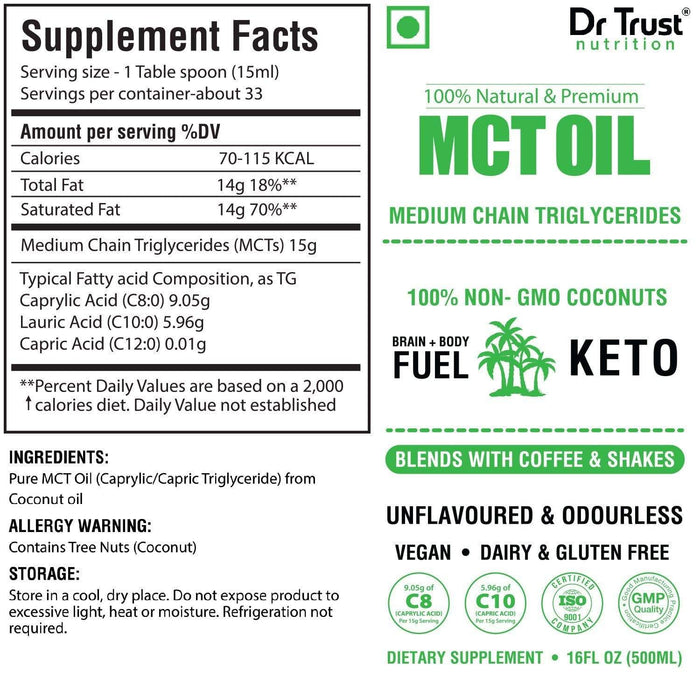 Dr Trust supplement Dr Trust USA MCT Oil for Keto Diet 708