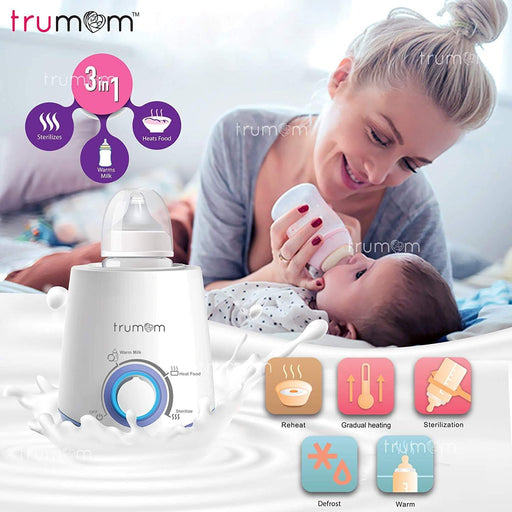TRUMOM 3 in 1 Electric Feeding Advance Bottle Warmer, Food Heater & Sterilizer for Babies.