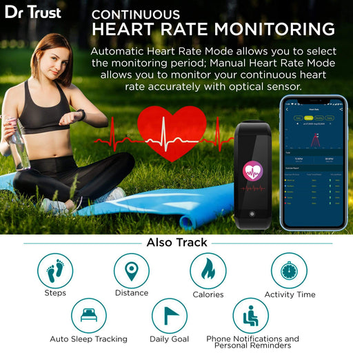 Dr Trust USA Health & Fitness Tracker 8001.