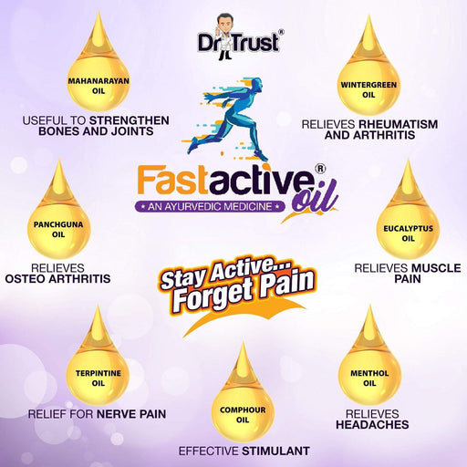 Dr Trust body pain Dr Trust USA Fast Active Oil (Pack of 2)
