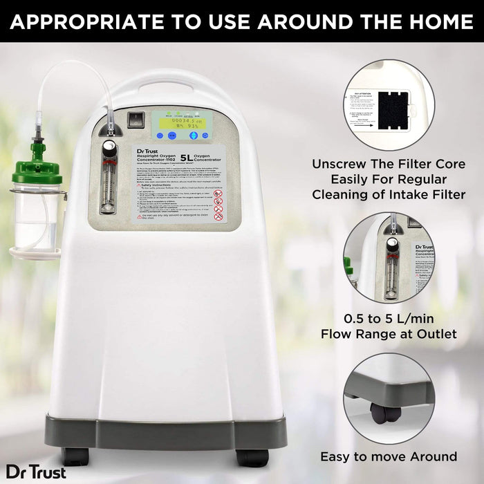 Dr Trust Oxygen Concentrators Dr Trust USA 5L Oxygen Concentrator 1102 (Shipping May 20, 2021)