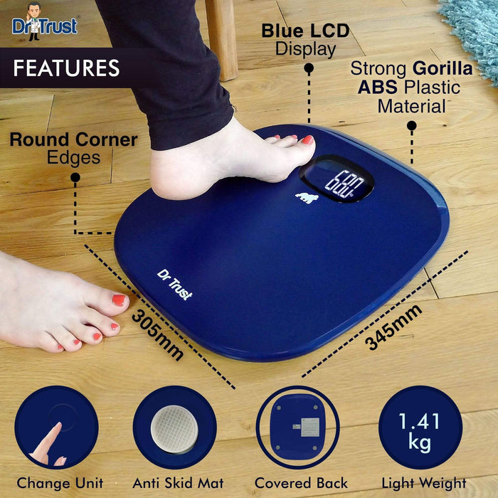 Dr Trust Weighing Scale Dr Trust USA ABS Absolute Personal Scale (Blue) Weighing Machine