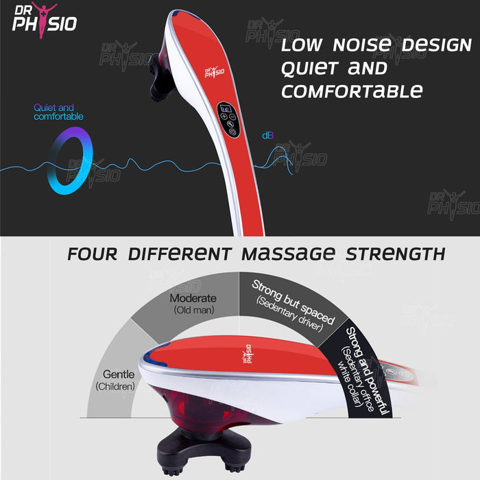 Dr Trust Massager Dr Physio USA Hammer Pro Body Massager Machine (Red) 1005