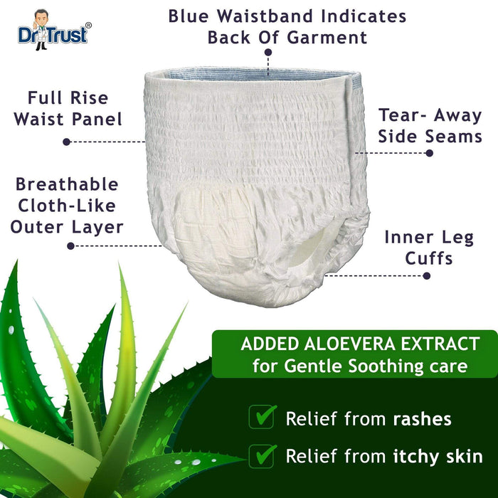 Dr Trust adult diapers Dr Trust USA Adult Diapers Pull Up Medium Size Pant Style 303 - Pack of 2