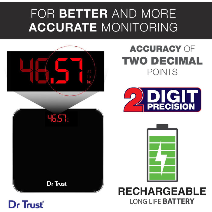 Dr Trust USA Eco Zeus Rechargeable Digital Personal Scale Weighing Machine.