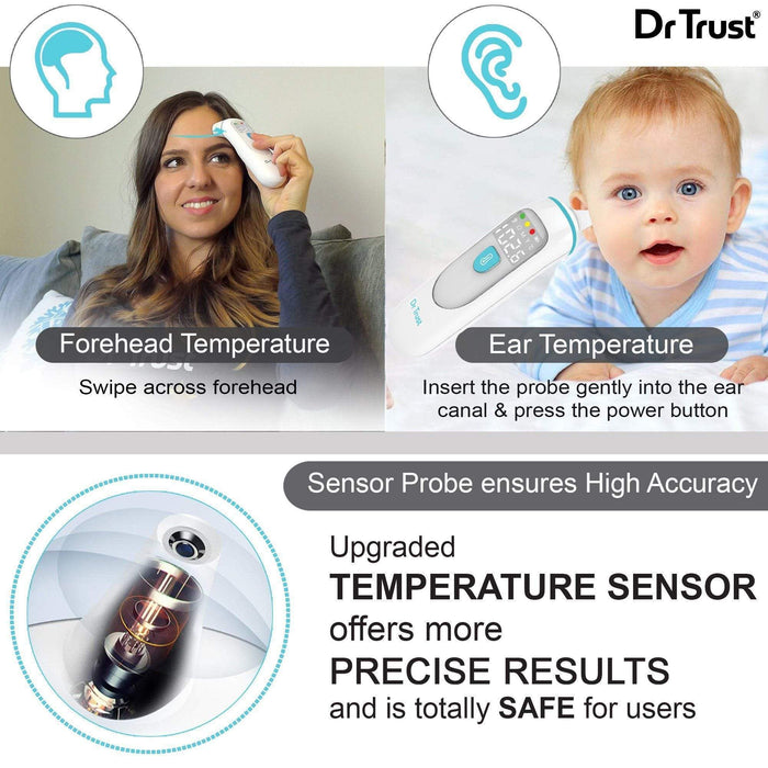 Dr Trust USA Homedoc Infrared Forehead Ear Thermometer PRO.