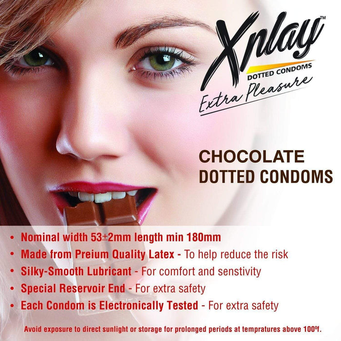 Dr Trust USA Xplay Dotted Condoms (Chocolate).