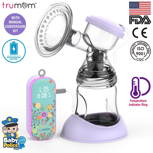 Trumom USA Lavender Rechargeable Breast Pump 2003.